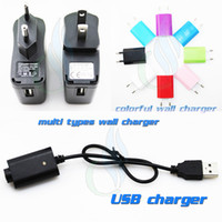Wholesale Ego Battery Charger Au - electronic cigarette Charger USB ego Charger vs US EU AU UK Wall Charger with IC protect for ego ego t ego c Battery e cigarette USB charger