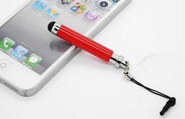 Wholesale Earphone Stylus - Wholesales the telescopic type Capacitive screen touch pen Metal stylus earphone dust plug 800pcs Free DHL Fedex