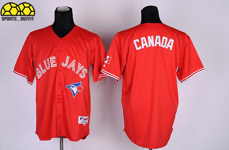2017 Blue Jays Jerseys Blank Baseball Jerseys Red Canada