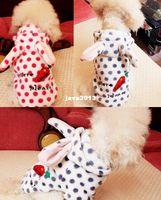 Wholesale Dogs Wearing Cute Costumes - Free Shipping 2014 NEW PET Chihuahua Dog Pet Cat Clothes Rabbit Radish Cute Hoodie Dog Clothing Dog Wear Sweater Shirt