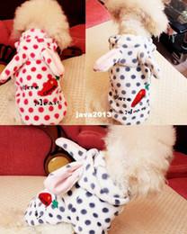 Wholesale Cute Rabbit Wearing Clothes - Free Shipping 2014 NEW PET Chihuahua Dog Pet Cat Clothes Rabbit Radish Cute Hoodie Dog Clothing Dog Wear Sweater Shirt