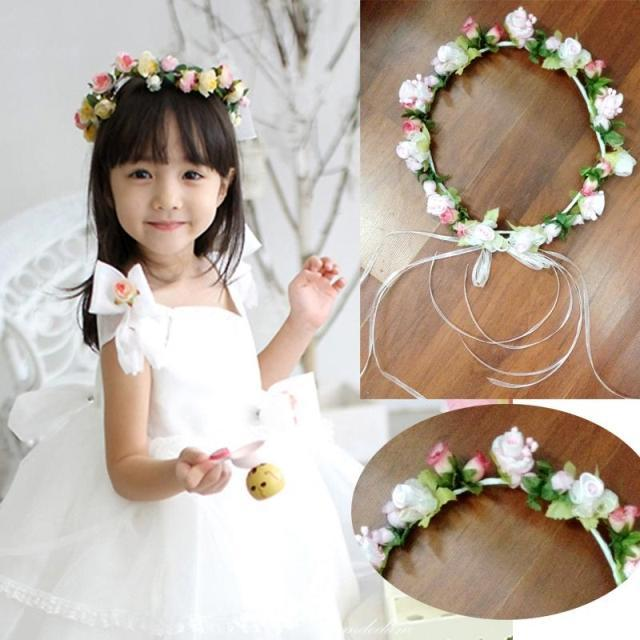 Fashion Flower Girl Head Wreath Manual Paper