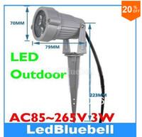 Wholesale 3w Power Led Spot Lamp - Popular LED Garden Light 3w High Power Outdoor Spot Lamp AC85~265V Free Shipping