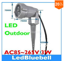 Wholesale Ip65 Led 3w - Popular LED Garden Light 3w High Power Outdoor Spot Lamp AC85~265V Free Shipping