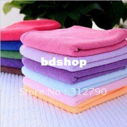 Wholesale Wholesale Cotton Cleaning Rags - Wholesale 30*30cm Microfiber Cleaning Cloth Microfiber Kitchen Towels Wiping Dust Rags Magic Quick Dry Dish Cloth Product 50pc