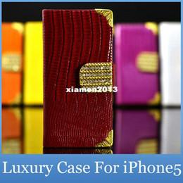 2019 iphone 5s telefon fälle bling Luxuxdiamant Bling PU-Leder-Krokodil-Schlag-Abdeckung für Apple iPhone 5S 5GS Art- und Weisehandy-Mappen-Kasten für iPhone5S 5G günstig iphone 5s telefon fälle bling