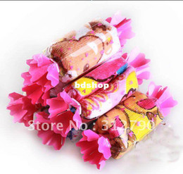 Wholesale Cake Towel Birthday Baby - 10pcs lot Cartoon Cake Towel Candy Towel Promotional Birthday Bussiness Gift 100% Cotton For Festival Giveaway Hot Sale
