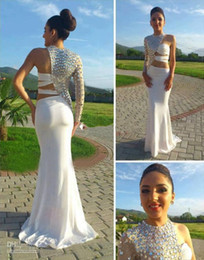 Wholesale Fitted One Shoulder Sexy Dress - Sexy Prom Dresses 2014 Asymmetrical One Sleeve Cut Out Prom Dress Crystal Beaded Evening Gowns Fitted Pageant Dresses China Prom Dresses