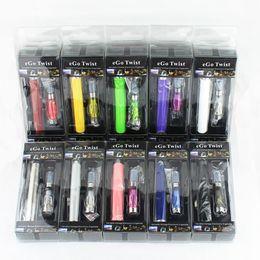Wholesale Ego Blister Pack Free Shipping - Go-C Twist Kit Electronic Cigarette eGo Kit CE4 Atomizer Blister Pack 650mAh 900mAh 1100mAh eGo-Twist Battery e cigarette Free Shipping
