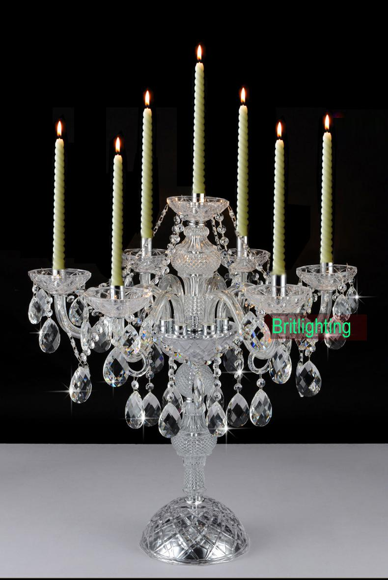2019 Modern Desk Crystal Candelabra Centerpieces Wedding