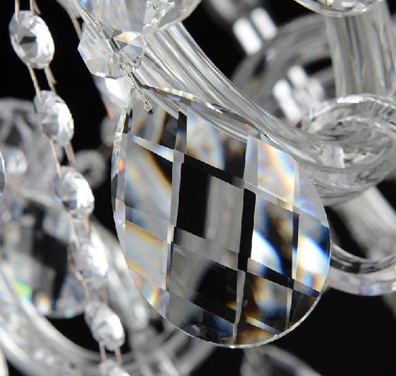 الحديثة مكتب الكريستال الشمعدانات المركزية الزجاج الزجاج الأسلحة الكريستال الشمعدانات يمكن أن ajustable الكريستال الجدول مصابيح شمعة شحن مجاني