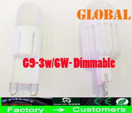 Wholesale Dimmable Led Candle Bulb 3w - New Arrival G9 LED light bulbs Dimmable 3W 6W 300LM ceramic crystal chandelier LED lamp indoor lighting LED Bulb 110V - 240V light