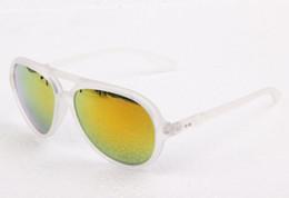 Wholesale Transparent Polarized Glasses - Unisex R4125 CATS 5000 Sunglasses Transparent Frame Orange Flash Lenses Sunglass + Box,Cloth