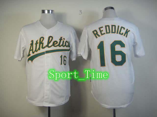 ... 2017 Cheap Baseball Jerseys Men Oakland Athletics 16 Josh Reddick White  Cool Base Team Jerseys Embroidery ... 1ee15c47c