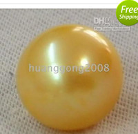 Wholesale Huge Round Pearls - HUGE PERFECT SOUTH SEA GOLDEN LOOSE PEARL UNDRILLED 11-12MM