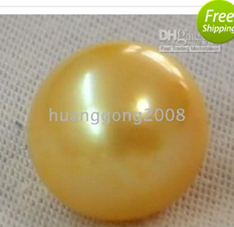 Wholesale South Sea Huge Pearl - HUGE PERFECT SOUTH SEA GOLDEN LOOSE PEARL UNDRILLED 11-12MM