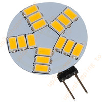 Wholesale Super Bright Led Spotlights - 4PCS Super Bright G4 LED 15 SMD 5630 Car Warm White Cabinet RV Light Bulb Lamp for good price free shipping