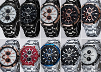 Wholesale Watch Bands China - 2015 Luxury Men's Fashion China Watch Metal Band Trendy CURREN Brand Stainless Steel Business Wrist watch 100PCS DHL free best2011