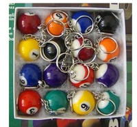 Wholesale Keychain Snooker Ball - DHL Freeshipping 960pcs Pool Billiard snooker table ball keychain keyring