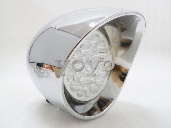 best selling Hot sale ! blue Chrome LED Headlight w  Blue Angel Eye for Harley Chopper Touring Dyna Glide Softail Sportster Road King