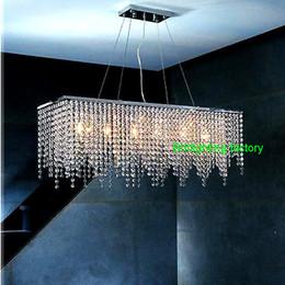 Wholesale Curtain Light Chandelier Crystal - Modern Crystal Chandelier Lighting for dining room led crystal chandeliers led pendant light curtain lights LED industrial pendant light
