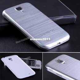Wholesale Metal Aluminum Case Cover S4 - S4 Brushed Aluminum Back Cover Metal Case,Battery Case With Embedded Logo + Film For Samsung Galaxy S4 i9500