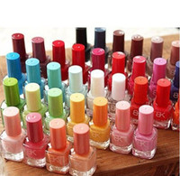 Wholesale Cheap Gel Nails - 2014 new Cheap Wholesale Environmental 42 Colors Nail Polish Quick-Dry Nail Varnish Candy Color Nail Enamel Free Shipping