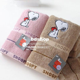 Wholesale Towel Snoopy - 2014 HOT SALE (34*74cm) SNOOPY Cartoon towel 100% snopy pattern Cotton soft absorbent Towel home Majic towel,HIGH QUALITY