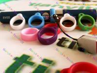 ego evod batterie elektronisch großhandel-Ego Lanyard Halskette String Ersatz Gummiring für Eovd Batterie evod MT3 elektronische Zigarette verschiedene Farben