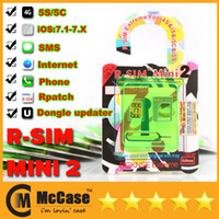 Original rSIM R SIM R-SIM MINI 2 MINI2 Thin Film Card Unlock per Iphone 4S 5 5S 5C IOS 7.1 - 7.X Verizon T-MOBILE SMS 3G / 4G Internet
