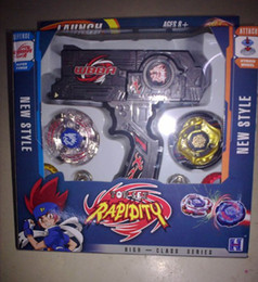 Wholesale New Beyblade Sets - 1 piece hot new Beyblade Top Set Metal Fusion Sol Blaze + Double Launcher free shipping