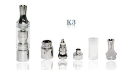 Wholesale Gs Ego Tank - GS K3 Atomizer wax atomizer glass tank Glass clearomizer vaporizer Metal Dip trip Detachable replacement Coil For Ego Battery E cig