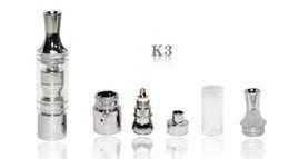 Bobina de vidro destacável on-line-GS K3 Atomizador cera atomizador tanque de vidro De Vidro clearomizer vaporizador De Metal Mergulhe viagem Bobina de substituição Destacável Para Ego Bateria E cig
