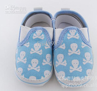Wholesale Skull Baby Shoes Canvas - Wholesale - Baby Shoes baby boys Shoes skull Toddler shoes 3 sizes   6 pairs  lot free shipping