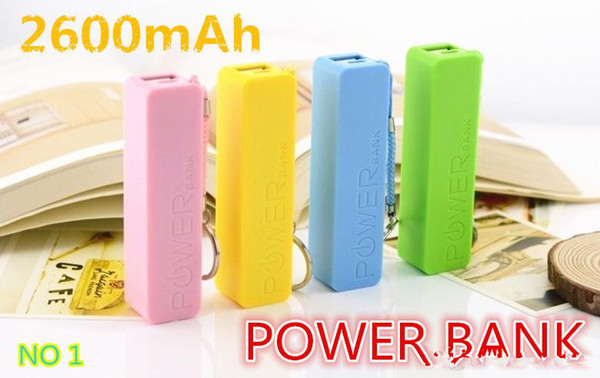 top popular Perfume 2600mAh Portable Power Bank Color Mixed External USB Micro USB host battery power bank For samsung smart phone iphone5 4 with box 2019