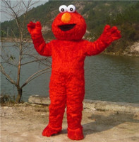 Wholesale Eva Long - direct selling high quality Long Fur Elmo Mascot Costume Character Costume Cartoon Costume Elmo Free Shipping