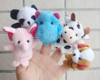 Atacado novo 50Pack Fábrica fornecido Cartoon Animal Finger Puppet Finger Toy Doll Doll Baby Doll FREE Shipping