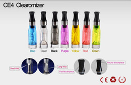 Wholesale Ego Cartomizer Removable - CE4 Cartomizer ego 7 colors removable have a wick Heavy vapor no leaking eGo Ecigarette Cigarettes CE4 Clearomizer