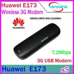 Wholesale E173 Hsdpa - DHL 5PCS New Unlocked Huawei E173 HSDPA 7.2Mbps GSM 3G USB Wireless Modem YX-LZ-07