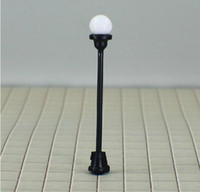 "Wholesale Ho Model Train Wholesalers - 100PCS LOT T4 HO scale train layout model lamppost lamp Size: MAX. height. 5.1cm or 2.0""inch Current for each b"
