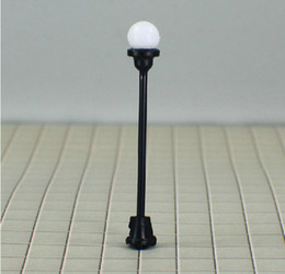 """Wholesale Scale Height - 100PCS LOT T4 HO scale train layout model lamppost lamp Size: MAX. height. 5.1cm or 2.0""""inch Current for each b"""