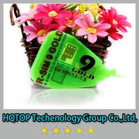 Wholesale Rsim Gold - 2014 new R-SIM 9 R SIM 9 RSIM 9 GOLD Unlock SIM Card (micro silm+ nano) for iphone 4S 5 5C 5S 3G 4G IOS 7.1