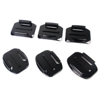 Wholesale Gopro Adhesive - S5Q 6x Flat Curved Surface Camera Mounts + Powerful Adhesive For GoPro HD Hero 3 AAADBR