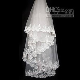Wholesale Long Tailed Wedding Dress - 2015 bridal veil Big flower ruyi lace retro veil new super long tail wedding dress veil accessories
