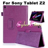 """Wholesale Xperia Protective Cover - For Sony Erisson Xperia Tablet Z2 10.1"""" SGP541CN High Quality PU Magnetic Litchi Book Style Leather Smart Case Cover With Stand"""