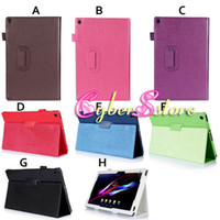 Wholesale Xperia Tablet Leather Cover - Luxury PU Magnetic Litchi Book Leather Smart Case Cover With Stand For Sony Erisson Xperia Tablet Z2 10.1