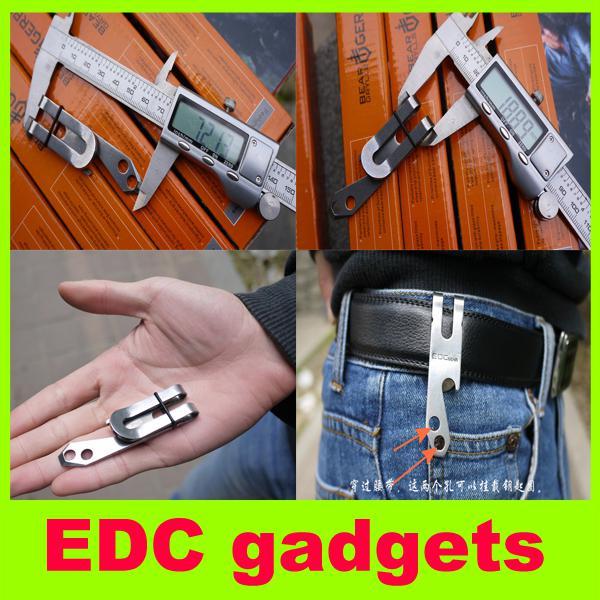 Neue EDC-Gadgets Edelstahl Taille Clip Brieftasche tragbare Utility Schlüsselanhänger Flaschenöffner Outdoor-Ausrüstung Multifunktions-Taschenwerkzeug H