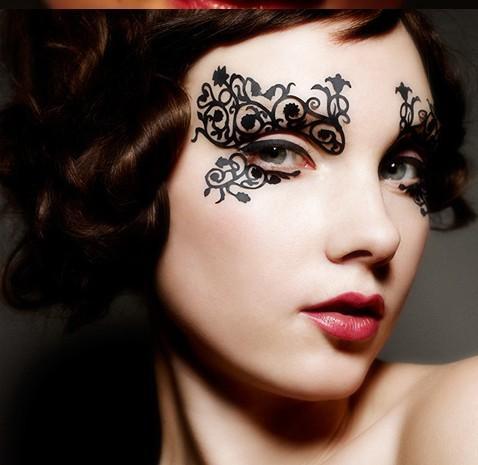 Маска для глаз макияж фото