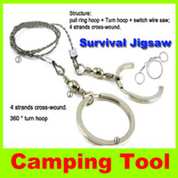 Wholesale Survival Bracelet Saw - New Survival Bracelets Camping survival jigsaw Scroll Saw 65CM pocketwire saw rope sawcamping Hunting travel hiking Survival Tool H