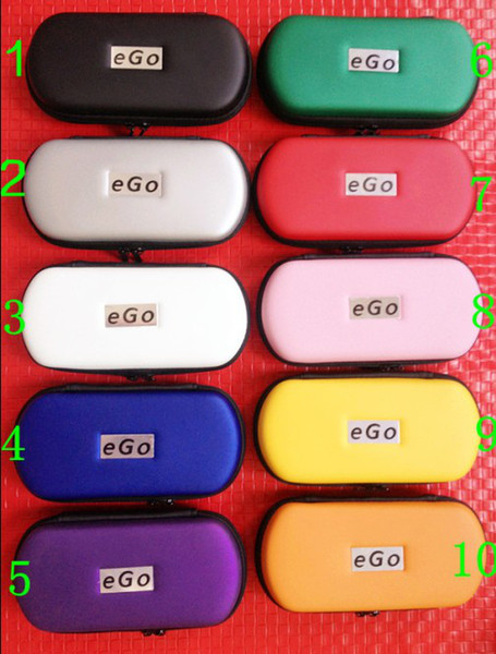Ego case ego leather bag evod case for ego-t ego-w ego-F electronic cigarette carry bag 10 colors with Zipper